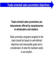 what are the objectives of sales promotion