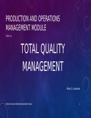 Total Quality Management (finance subject)