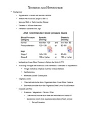 Nutrition and Hypertension Notes