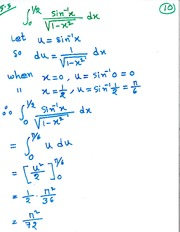 MAT 4787 Integration by Trigonometric Substitution Notes