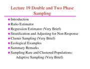 ST 432 Lecture 19 Double Sampling