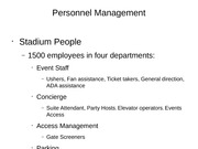 AT&T Stadium evaluation of Personnel and Parking Powerpoint
