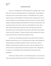 Biblical Fall Essay