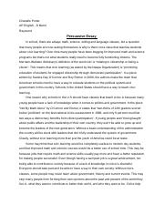 English Eesx  Snr Ap English  Edward R Murrow High  Pages Ap English Essay