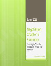 Negotiation - Chapter 5 Summary