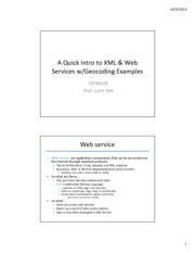 Session 10 - xml and web services