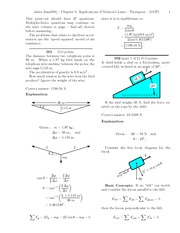Quest 4 - Chapter 5 - Applications of Newton's Laws Solutions