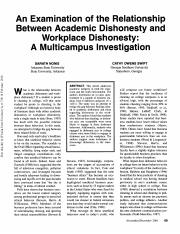 Academic and Workplace Dishonesty