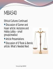 FLR 2016 M57 Part II Ethical Cultures