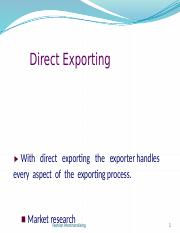6 FM Direct & Indirect exporting
