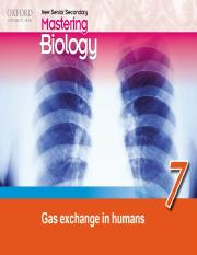 Chapter 7 Gas Exchange in Humans