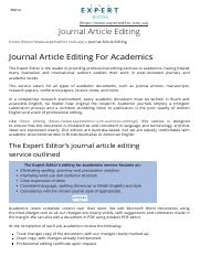 Journal Article Editing _ The Expert Editor - Australia
