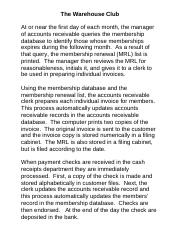 The Warehouse Club Problem BMP for Distribution Revised 10-24-14