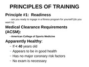 Principles of Training Student Slides