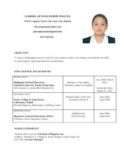 Alyssa Garma Resume
