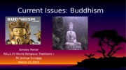 Week#5 Buddhism Current Issues