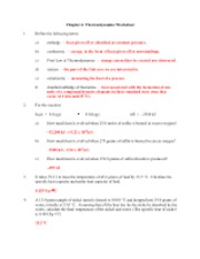 Printables Thermodynamics Worksheet Answer Key chapter 6 thermodynamics worksheet 2 pages key