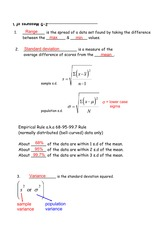 measures of variation notes