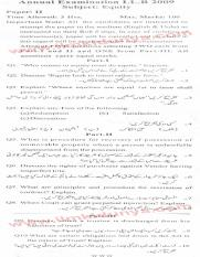 Past Papers 2009 LLB Part 2 Equity Paper 2