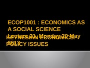 Lecture 21 [Keynesian economics Policy issues]