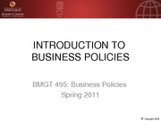 BMGT 495 first class introduction