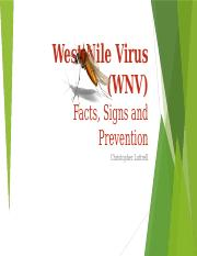 Lab 1-2 West Nile Virus