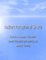 Fall 2016Auditory Perception of Speech_2016