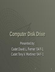 Computer Disk Drive