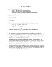 MA118 Exam 3 Review Sheet