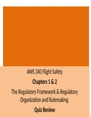 AWS 420 Quiz One Review Ch 1 and Ch 2 2014.ppt