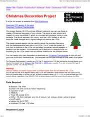 Christmas Decoration Project