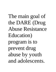 The main goal of the DARE