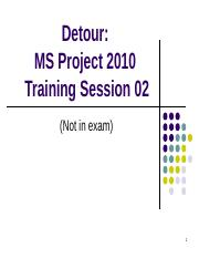 MS Project Tutorial 2 - Scheduling - Student