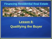 Chapter 8 Qualifying the Buyer