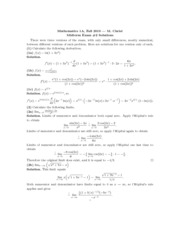 MATH 1A - Fall 2010 - Christ - Midterm 2 (solution)