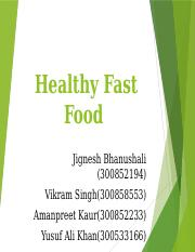 Healthy Fast Food1-ppt