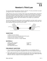 11 Newton's Third Law