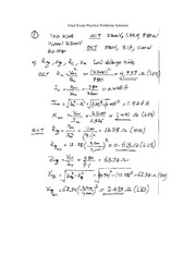 12-Final Exam Practice Problems Solution