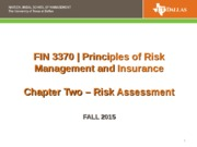 FIN 3370 CH 2 Risk Assessment Fall 2015