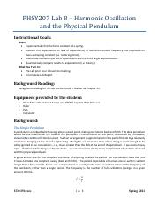 8 - Harmonic Oscillation and the Physical Pendulum.pdf