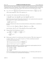 Problem Set 8 Solution on Modern Physics