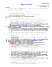 Lecture notes on Hypothesis_testing