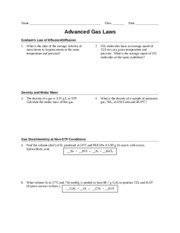 Printables Gas Laws Worksheet worksheet advanced gas laws pre ap teacher 2 produced at 1 pages ap