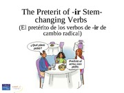 Verbs with irregular forms in the preterit