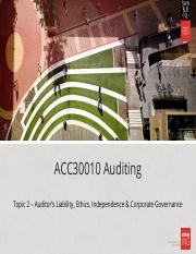 HOC - L2-Auditor Liability-Ethics-Independence(2).ppt