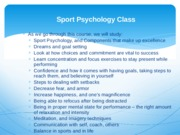 Week 1 sport psych lecture notes