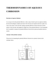 Notes on Corrosion Reactions