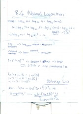 Natural logarithm notes