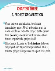 Chapter  3 PROJECT ORGANIZATION.ppt