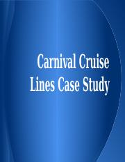 carnival cruise lines case study The lessons companies can take from carnival cruise lines' handling of its triumph public relations debacle are mounting faster than human waste aboard a disabled ship adrift in the gulf of mexico.